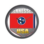 Tennessee USA Crest Wall Clock