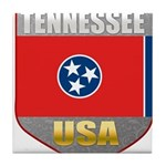 Tennessee USA Crest Tile Coaster