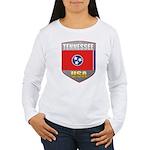Tennessee USA Crest Women's Long Sleeve T-Shirt