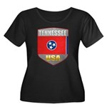 Tennessee USA Crest Women's Plus Size Scoop Neck D