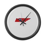 Tennessee Stripe Custom Desig Large Wall Clock