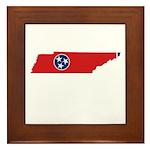 Tennessee Stripe Custom Desig Framed Tile