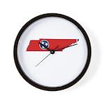 Tennessee Stripe Custom Desig Wall Clock