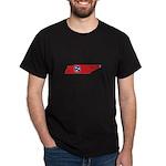 Tennessee Stripe Custom Desig Dark T-Shirt