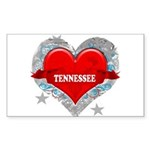 My Heart Tennessee Vector Sty Rectangle Sticker
