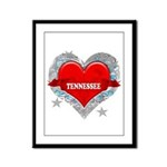 My Heart Tennessee Vector Sty Framed Panel Print