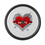 My Heart Tennessee Vector Sty Large Wall Clock