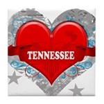 My Heart Tennessee Vector Sty Tile Coaster