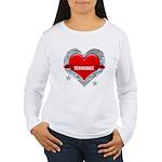 My Heart Tennessee Vector Sty Women's Long Sleeve