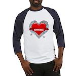 My Heart Tennessee Vector Sty Baseball Jersey