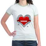 My Heart Tennessee Vector Sty Jr. Ringer T-Shirt