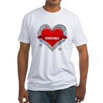 My Heart Tennessee Vector Sty Fitted T-Shirt