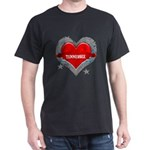 My Heart Tennessee Vector Sty Dark T-Shirt