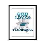 God Loves Tennessee Framed Panel Print