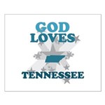 God Loves Tennessee Small Poster