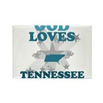 God Loves Tennessee Rectangle Magnet