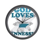 God Loves Tennessee Wall Clock