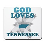 God Loves Tennessee Mousepad