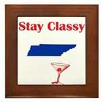 Stay Classy Tennessee Framed Tile