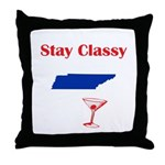 Stay Classy Tennessee Throw Pillow