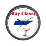 Stay Classy Tennessee Wall Clock