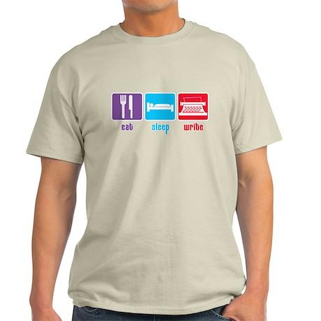 Eat Sleep Write Light T-Shirt