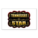 Tennessee Star Gold Badge Sea Rectangle Sticker