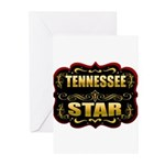 Tennessee Star Gold Badge Sea Greeting Cards (Pk o