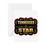 Tennessee Star Gold Badge Sea Greeting Card