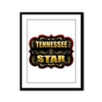Tennessee Star Gold Badge Sea Framed Panel Print