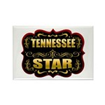 Tennessee Star Gold Badge Sea Rectangle Magnet
