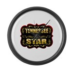 Tennessee Star Gold Badge Sea Large Wall Clock