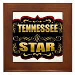 Tennessee Star Gold Badge Sea Framed Tile