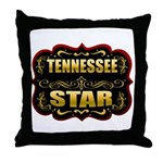 Tennessee Star Gold Badge Sea Throw Pillow