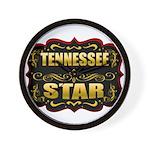 Tennessee Star Gold Badge Sea Wall Clock
