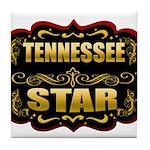Tennessee Star Gold Badge Sea Tile Coaster