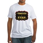 Tennessee Star Gold Badge Sea Fitted T-Shirt