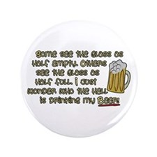 """Drink My Beer 3.5"""" Button"""