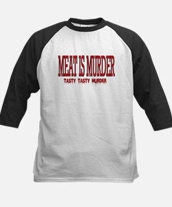 MEAT IS MURDER... Kids Baseball Jersey