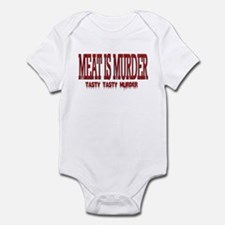 MEAT IS MURDER... Infant Bodysuit