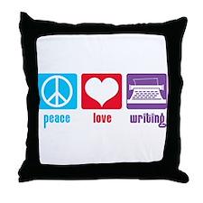 Peace Love Writing Throw Pillow