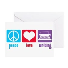 Peace Love Writing Greeting Card
