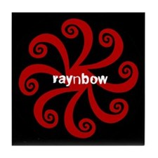 Raynbow Red Pattern Tile Coaster