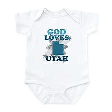 God Loves Utah Infant Bodysuit