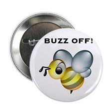 """Buzz Off! 2.25"""" Button"""