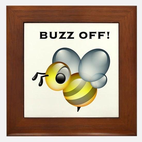 Buzz Off! Framed Tile