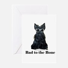 Scottie Bad to the Bone Greeting Cards (Pk of 20)