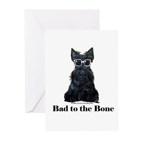 Scottie Bad to the Bone Greeting Cards (Pk of 10)