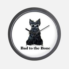 Scottie Bad to the Bone Wall Clock