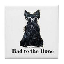 Scottie Bad to the Bone Tile Coaster